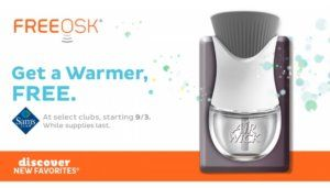 Free Air Wick Warmers at Sams Club