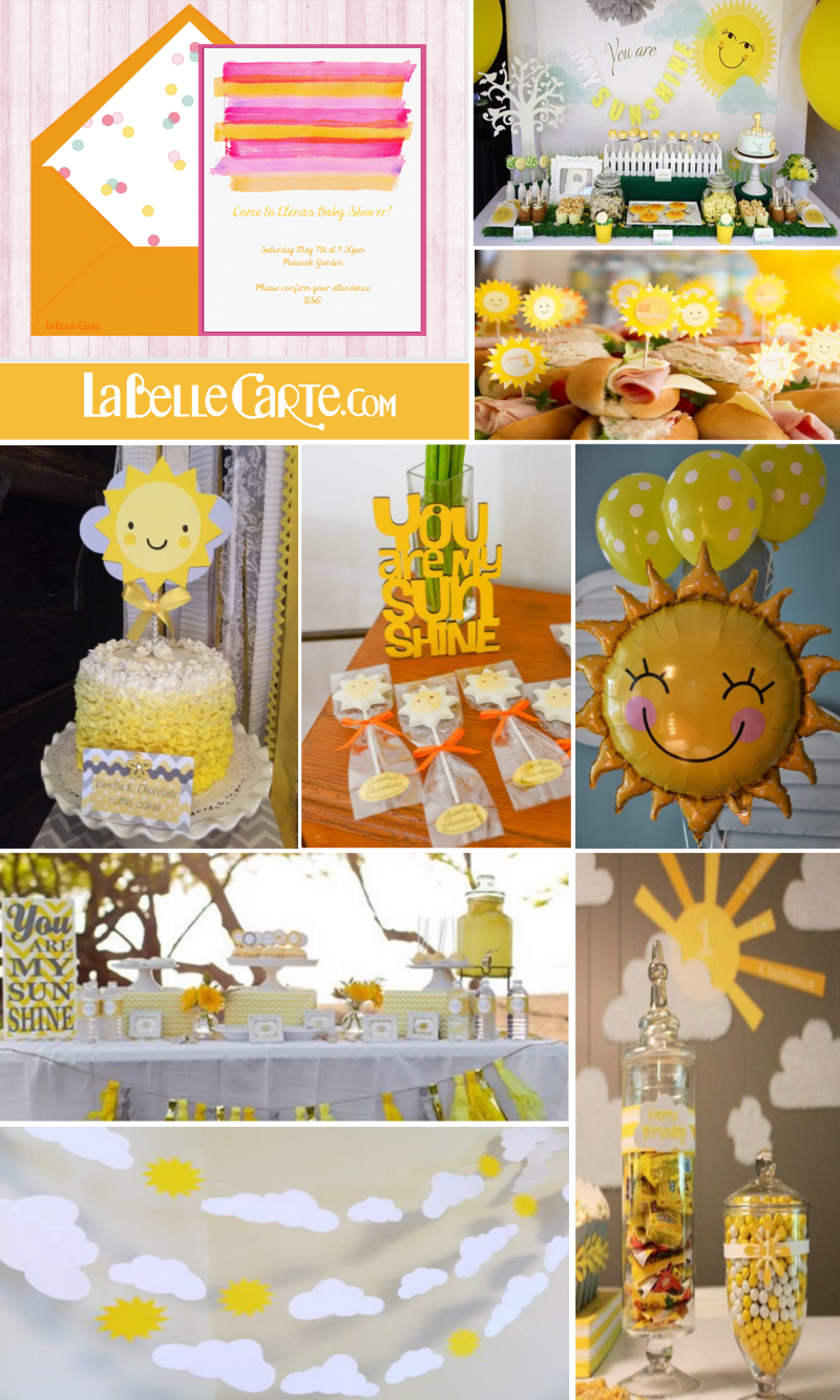 GET READY FOR BRIGHT SUMMER DAYS! BABY SHOWER INVITATIONS AND SUNNY ...