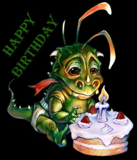 Открытки с днем рождения с драконами