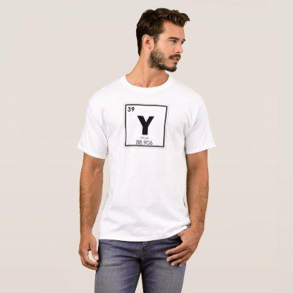 Yttrium Chemical Element Symbol Chemistry Formula T Shirt