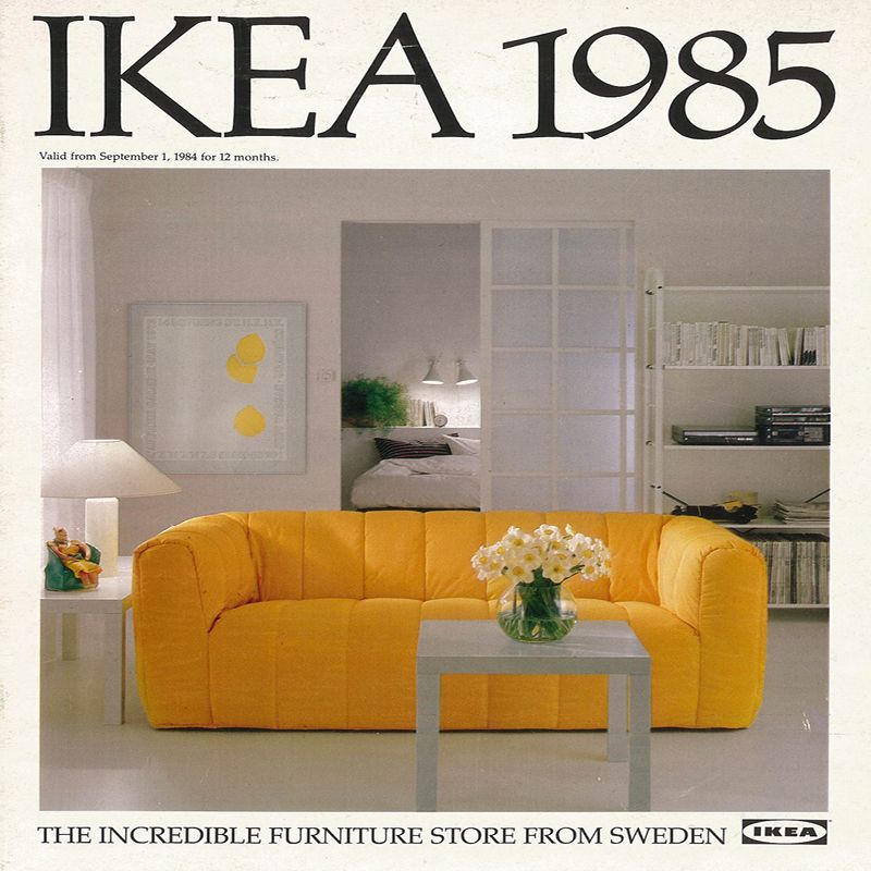 The 1985 Ikea Catalogue Cover 80s Furniture 80s Interior