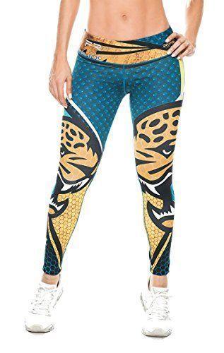 50ffdae52f1f77 Jacksonville Jaguars Football Leggings NFL Yoga Pants Wom... | Sport ...