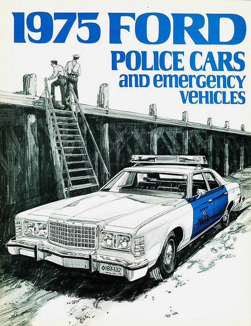 Vintage Police Car Brochure ☆。☆。Jpm Entertainment