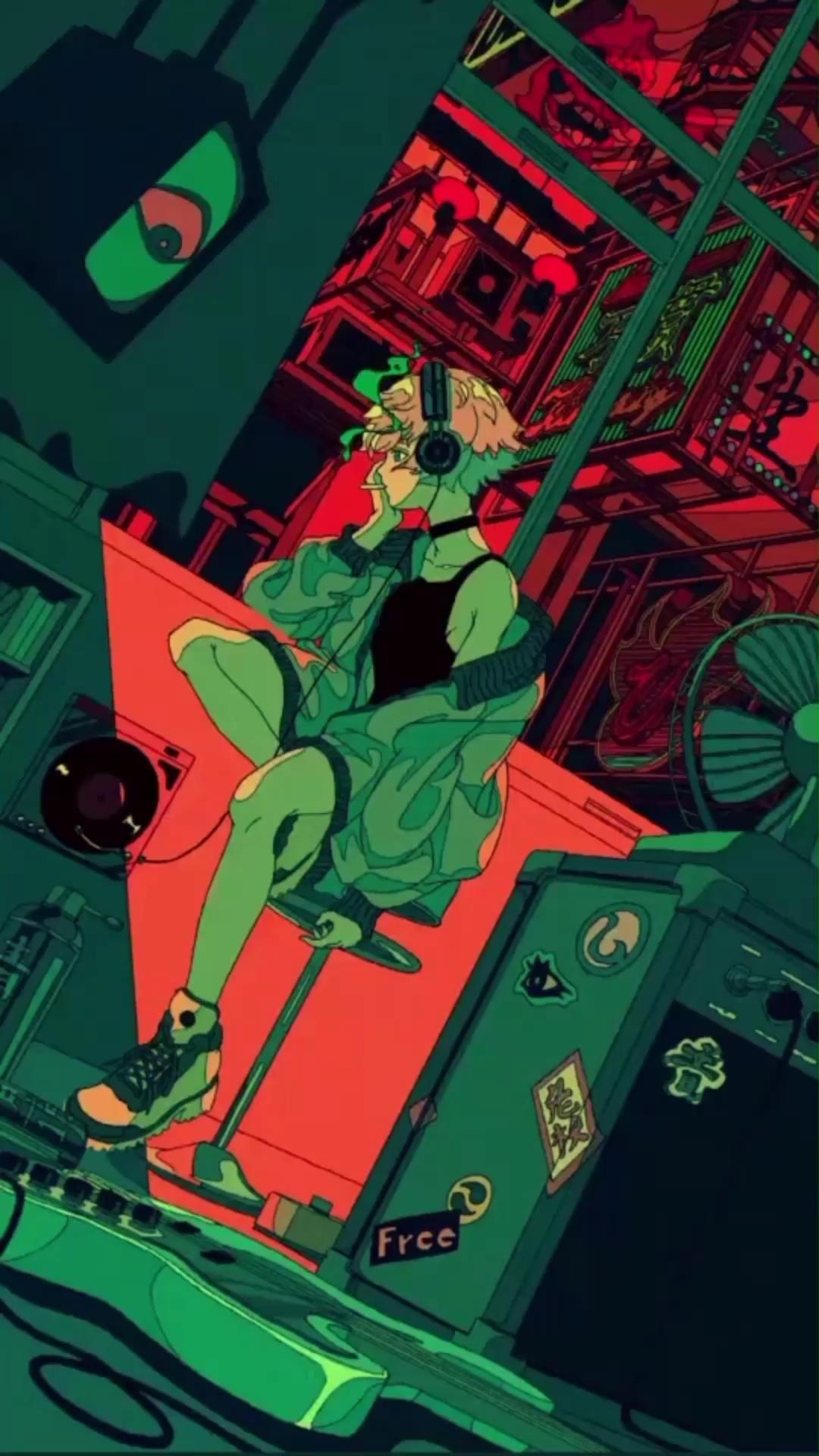 Hình nền động anime đầy sắc màu