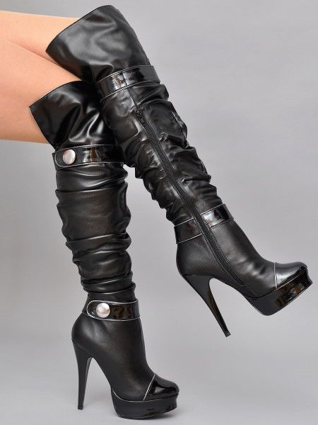 Sexy high heeled boots