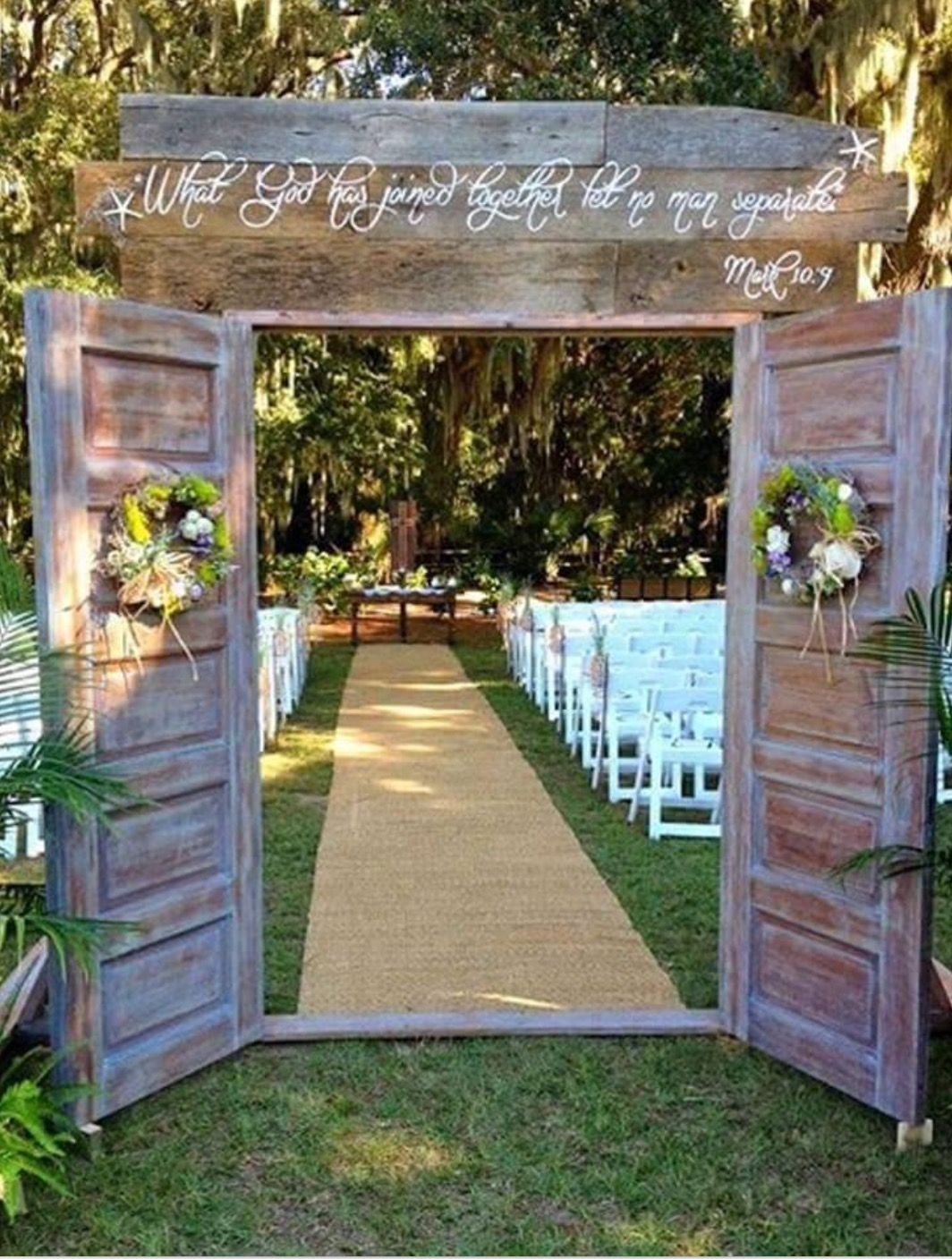 Use Rustic Doors For A Wedding Entrance