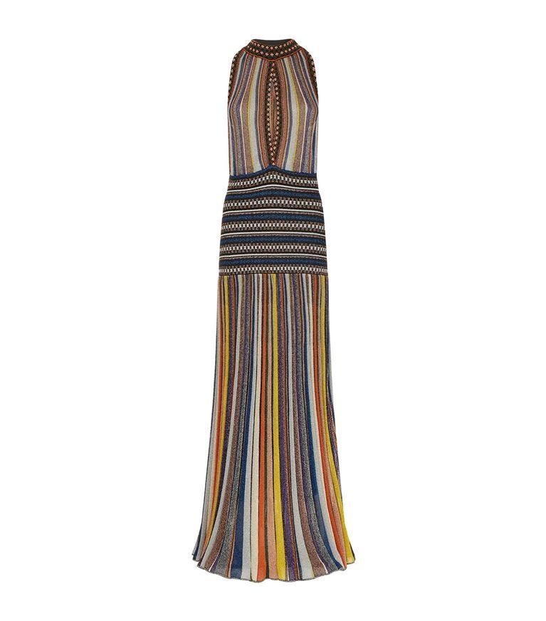 Striped Knitted Dress, Black   Missoni