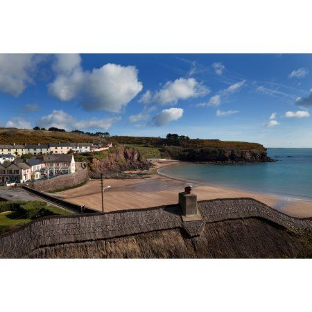 The Strand Inn and Dunmore Strand County Waterford Ireland Canvas Art - Panoramic Images (36 x 12)