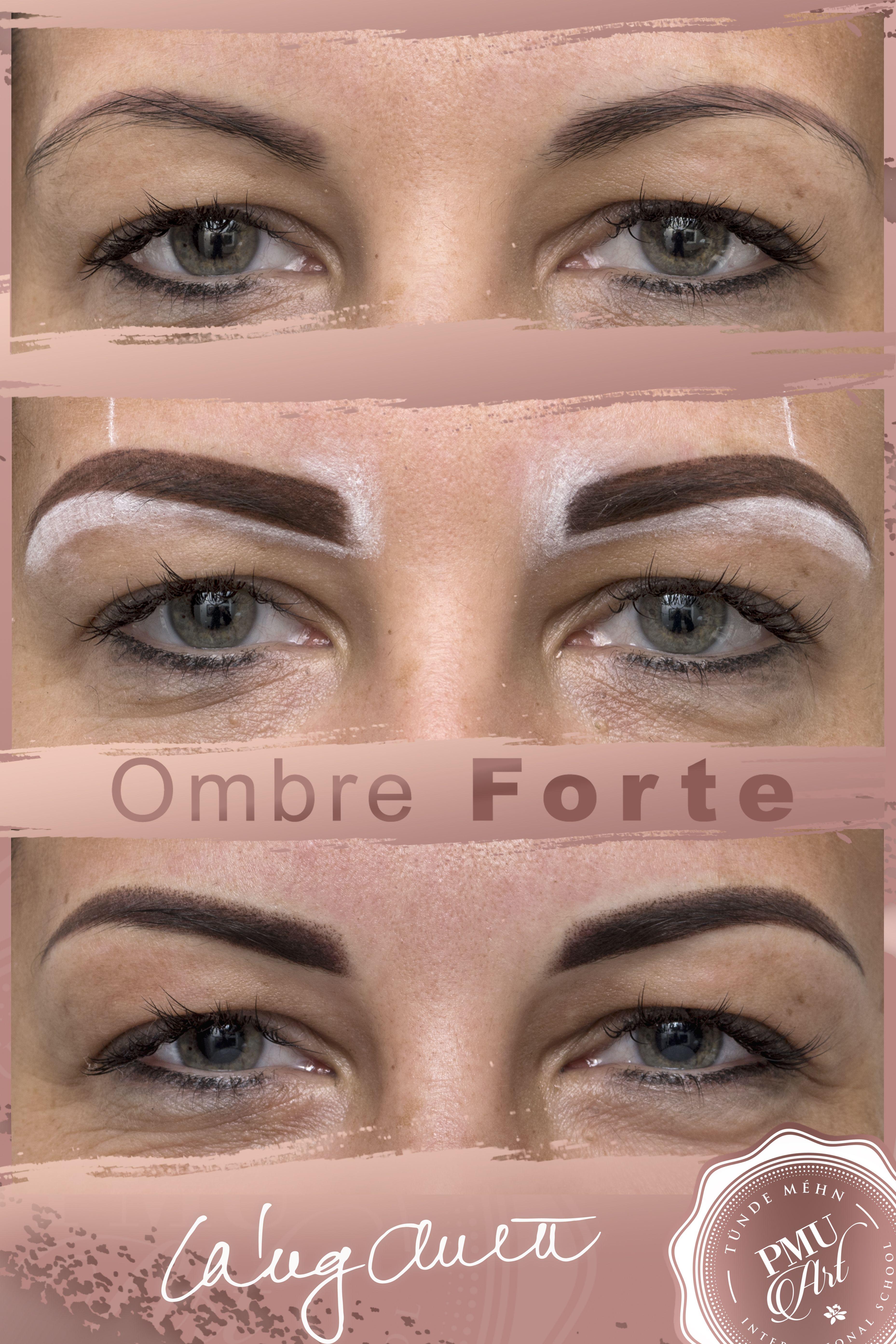 Ombre Forte Eyebrow Tattoo | Szemöldök, Tetoválás