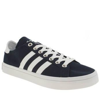 men's adidas navy & white gazelle trainers