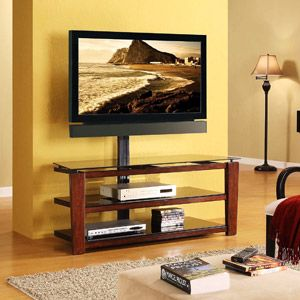 Home For The Home Swivel Tv Stand Espresso Tv Stand