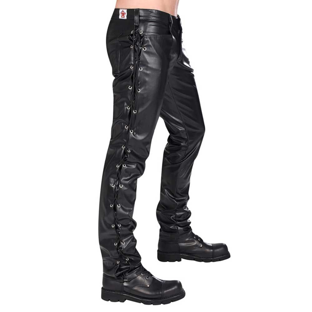 leatherlook broek heren