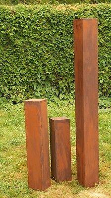 rostsäulen familie gartendeko rost stele 2017 * | stahlmanufaktur, Garten ideen