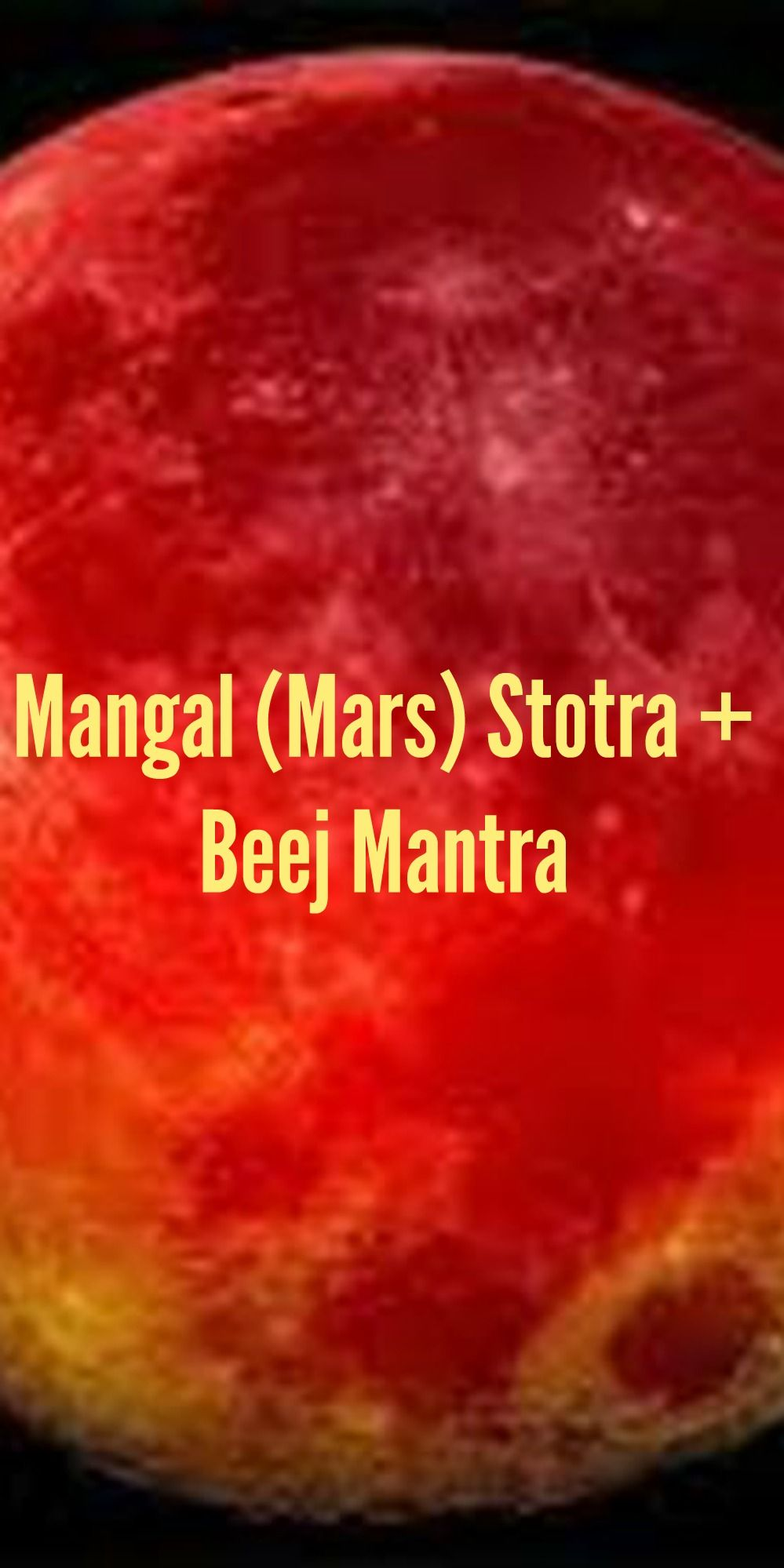 Mangal Mars Stotra Beej Mantra Lyrics Meaning And Benefits