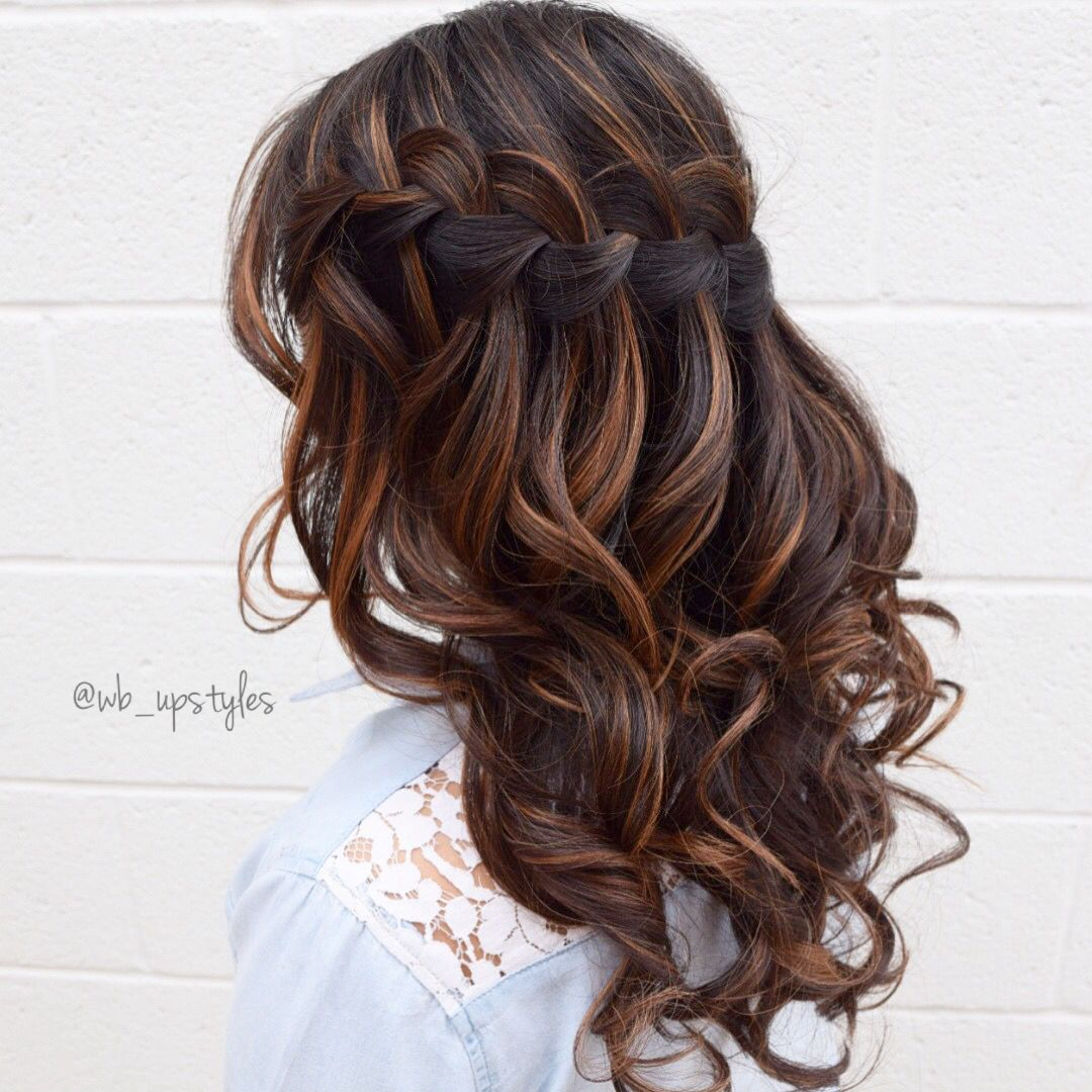 Waterfall braid hairstyles pinterest hair style prom and prom
