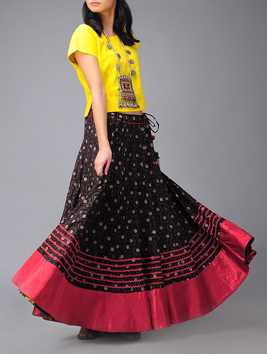 Buy Ditsy Kalidar Cotton Skirt (Free Size) Online