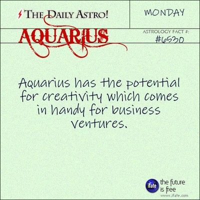 Aquarius 6530: Check out The Daily Astro for facts about Aquarius.