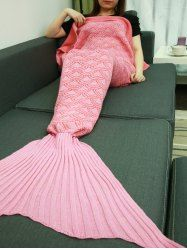 Comfortable Fish Scale Sleeping Bag Sofa Mermaid Tail Blanket - PINK