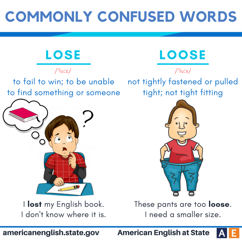 Lyric corre lyrics in english : Commonly confused words: Lose vs Loose | This BE my teaching ...