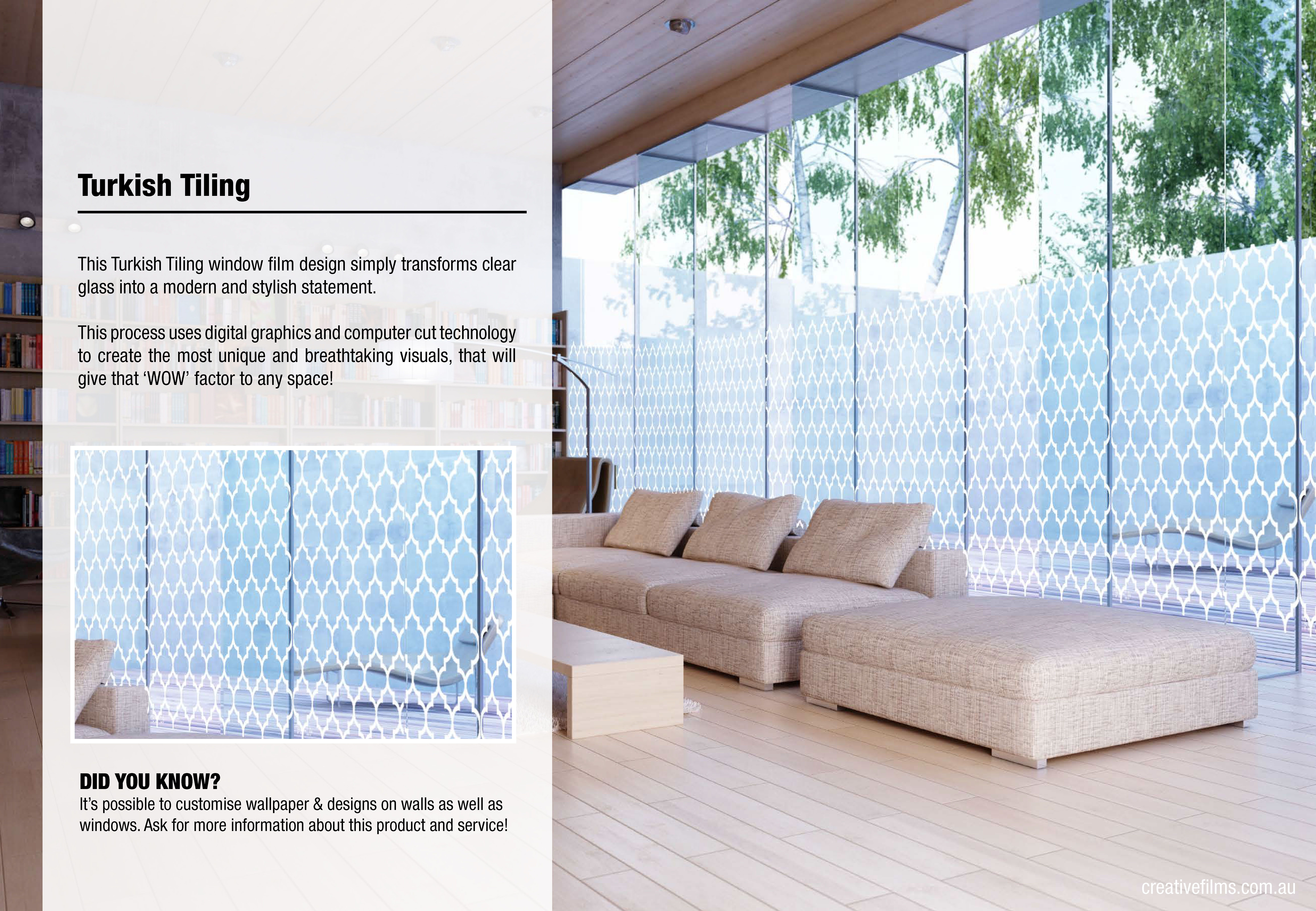 This Turkish Tiling window film design simply transforms ...