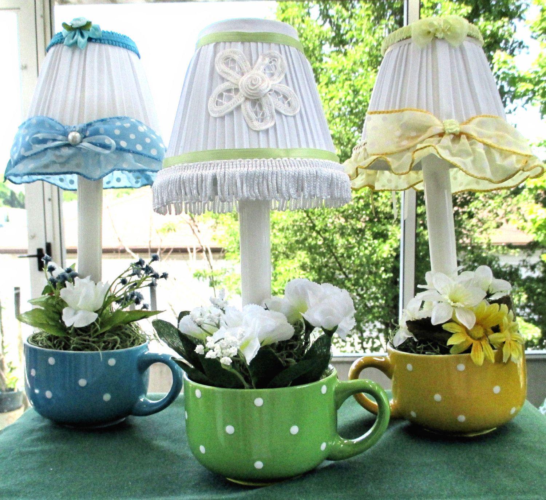 Lamps Small Table Top Night Lights Polka Dot Tea