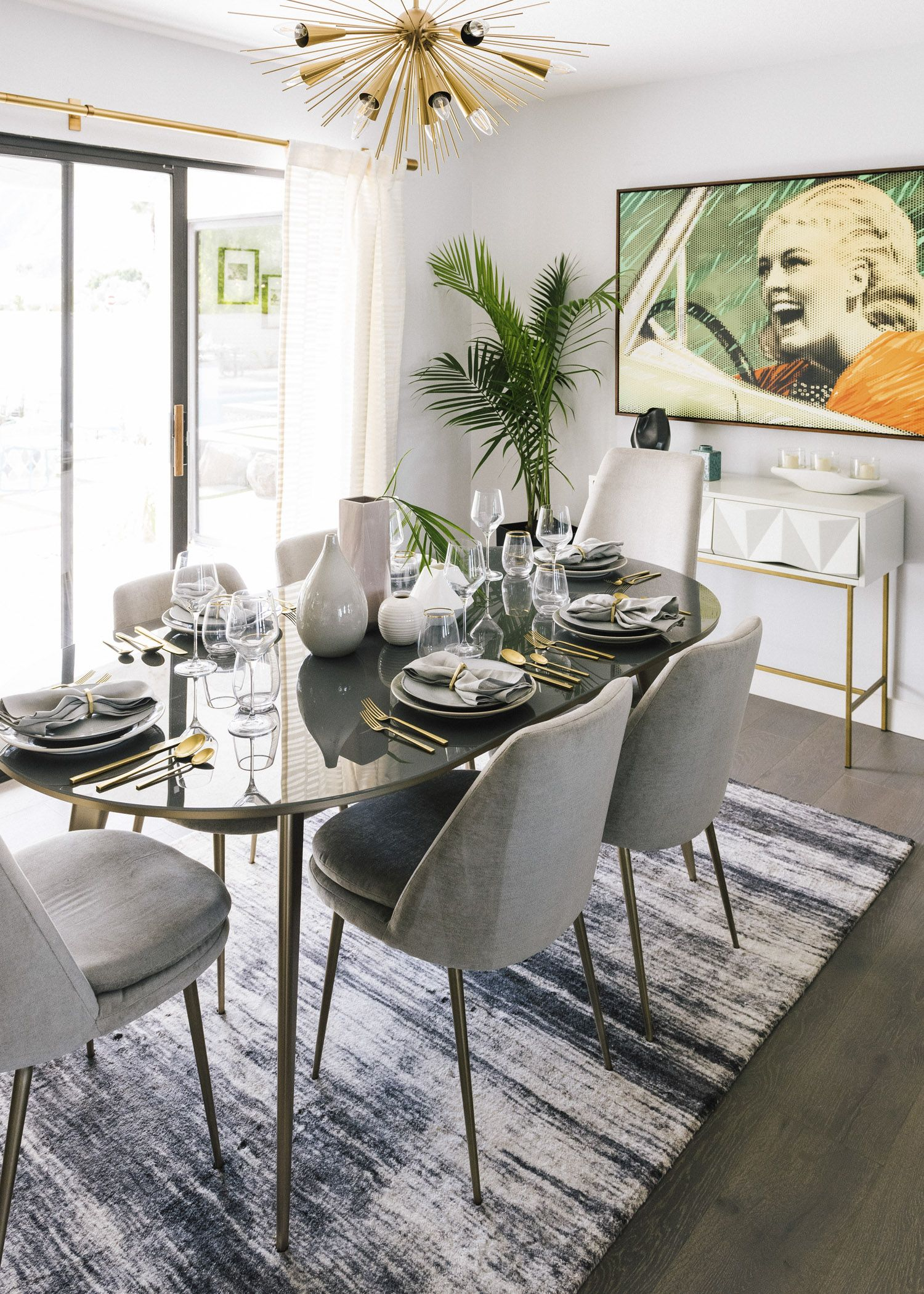 Modernism Week In Palm Springs The West Elm House Front Main Dining Room Small Living Room Scandinavian Modern Dining Room #palm #springs #living #room