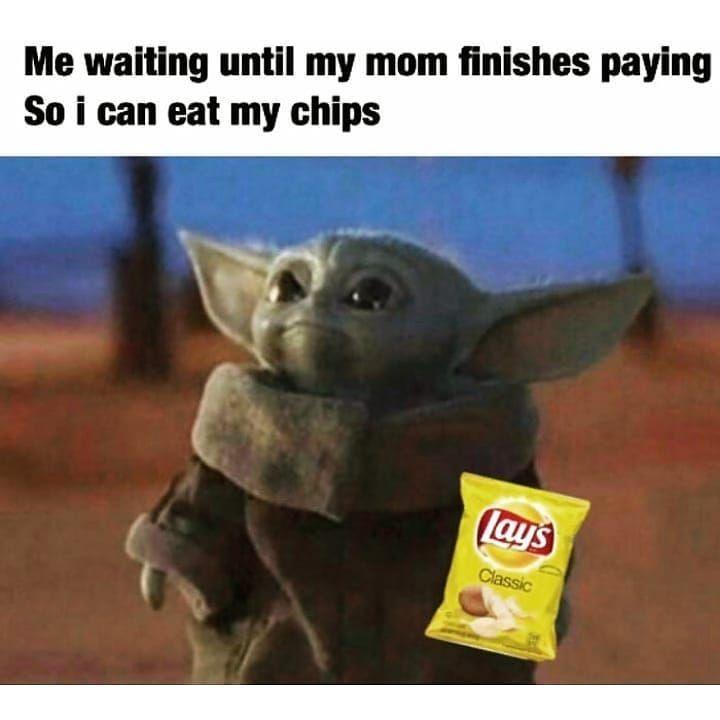 Pin By Yuliana Sanchez On Baby Yoda Yoda Meme Funny Relatable Memes Star Wars Memes