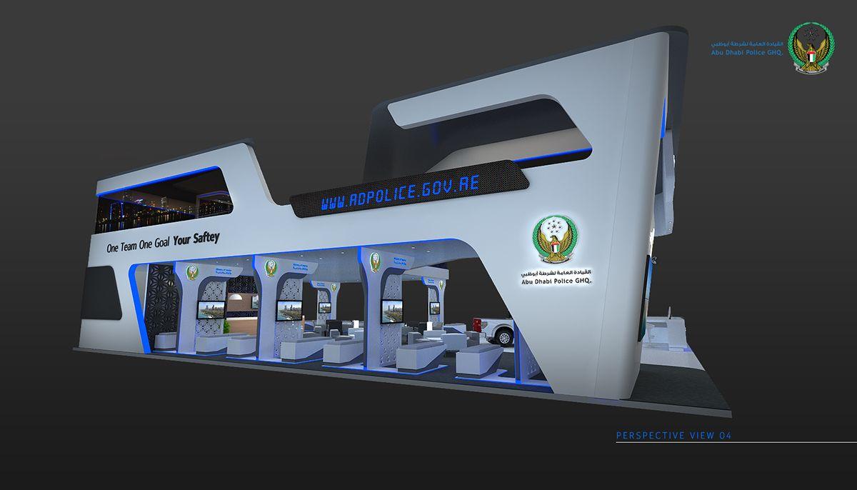 Exhibition Booth Rental Abu Dhabi : Abu dhabi police on behance exhibition booth pinterest