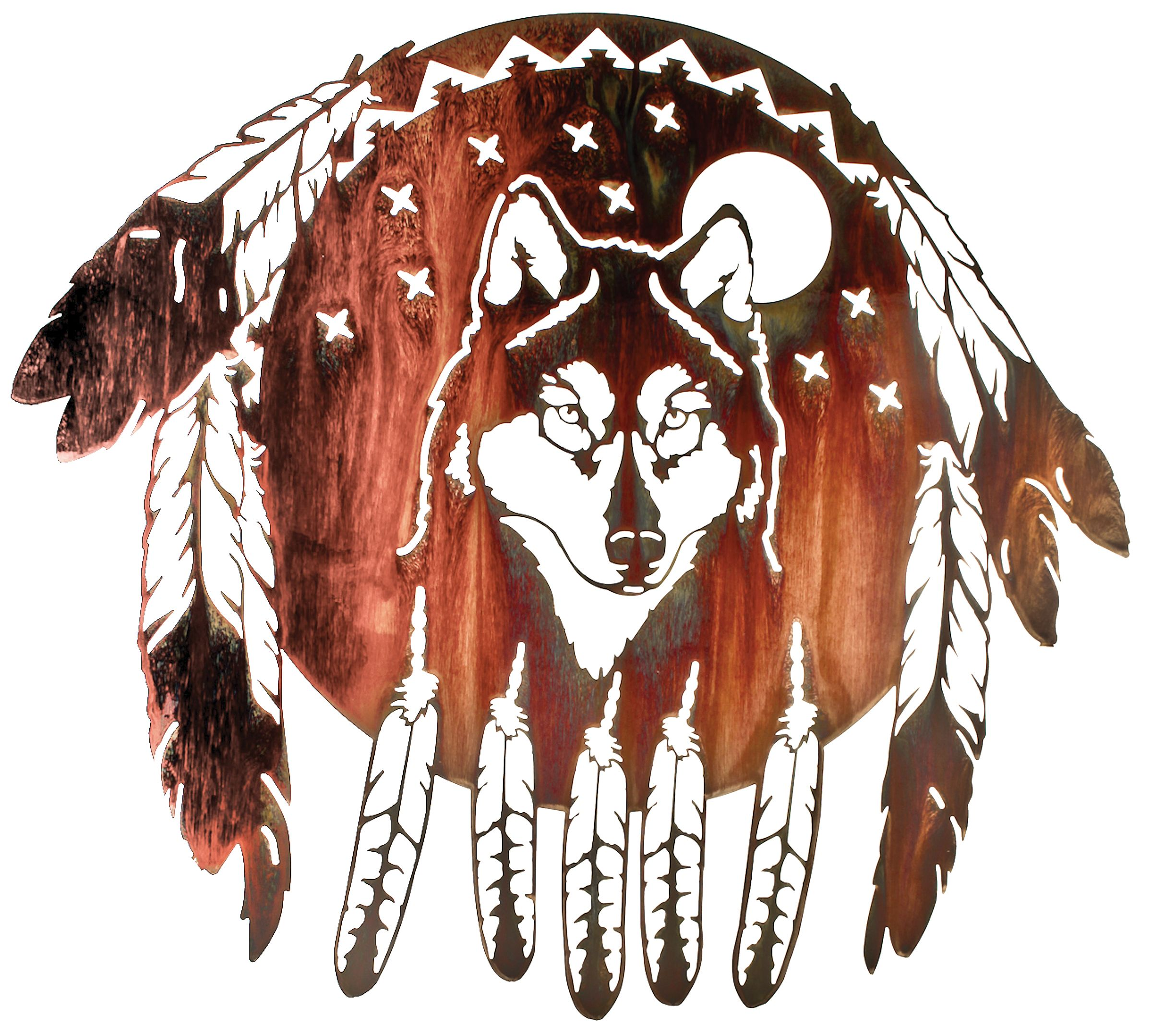 Wolf Wall Art wolf wall art southwest wall art www.rusticeditions