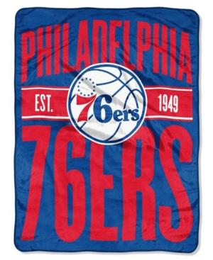 fdabf03a765a Northwest Company Philadelphia 76ers Micro Raschel Clear Out Throw Blanket  - Blue