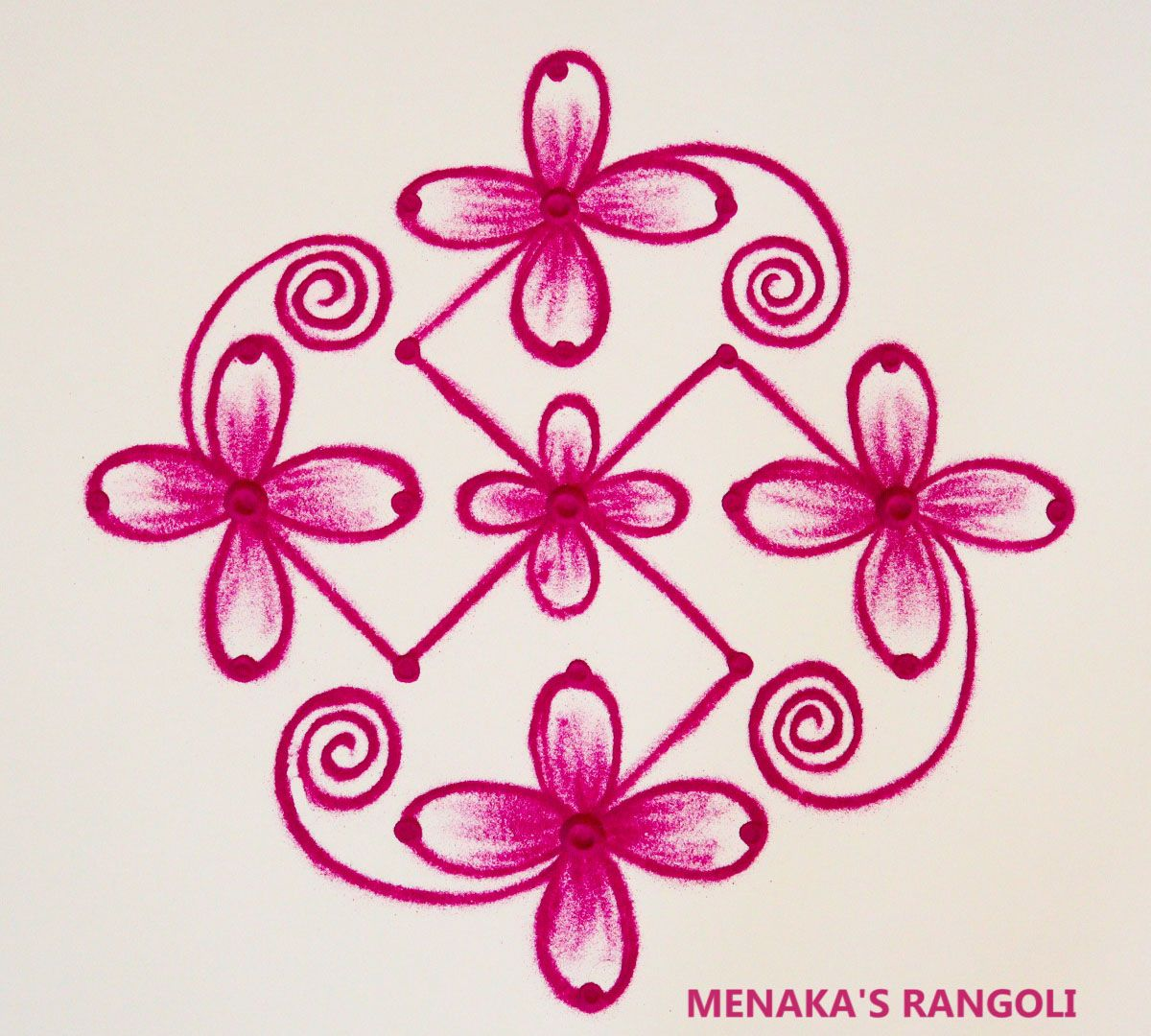 Very Easy Rangoli Design With Dots Muggulu Kolam