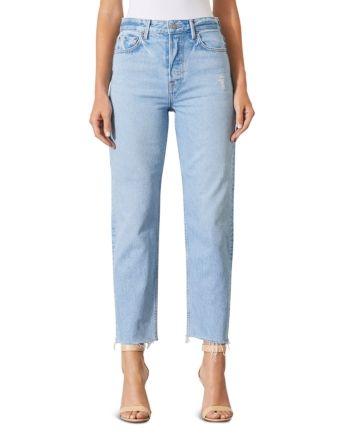 Grlfrnd Helena Super High Rise Ripped Jeans in Gonna Love Me