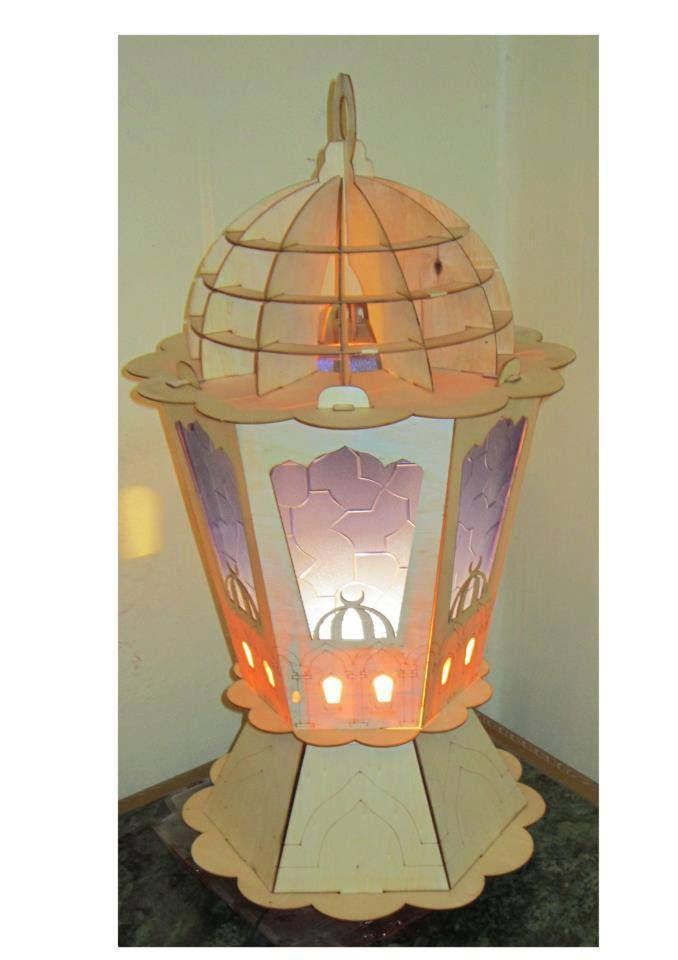 تصميم فانوس رمضان من الأركت Ramadan Lantern Wooden Lanterns Diy Lanterns