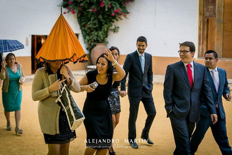Reportaje de boda natural y sin posados. Fotografía de boda original, artística, fresca y relajada. Boda en Sevilla, Hacienda Los Ángeles - Alejandro Martín Fotografía