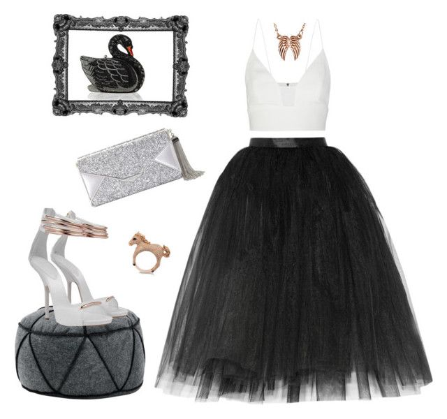 """Swan during a night."" by solenn-natali on Polyvore"
