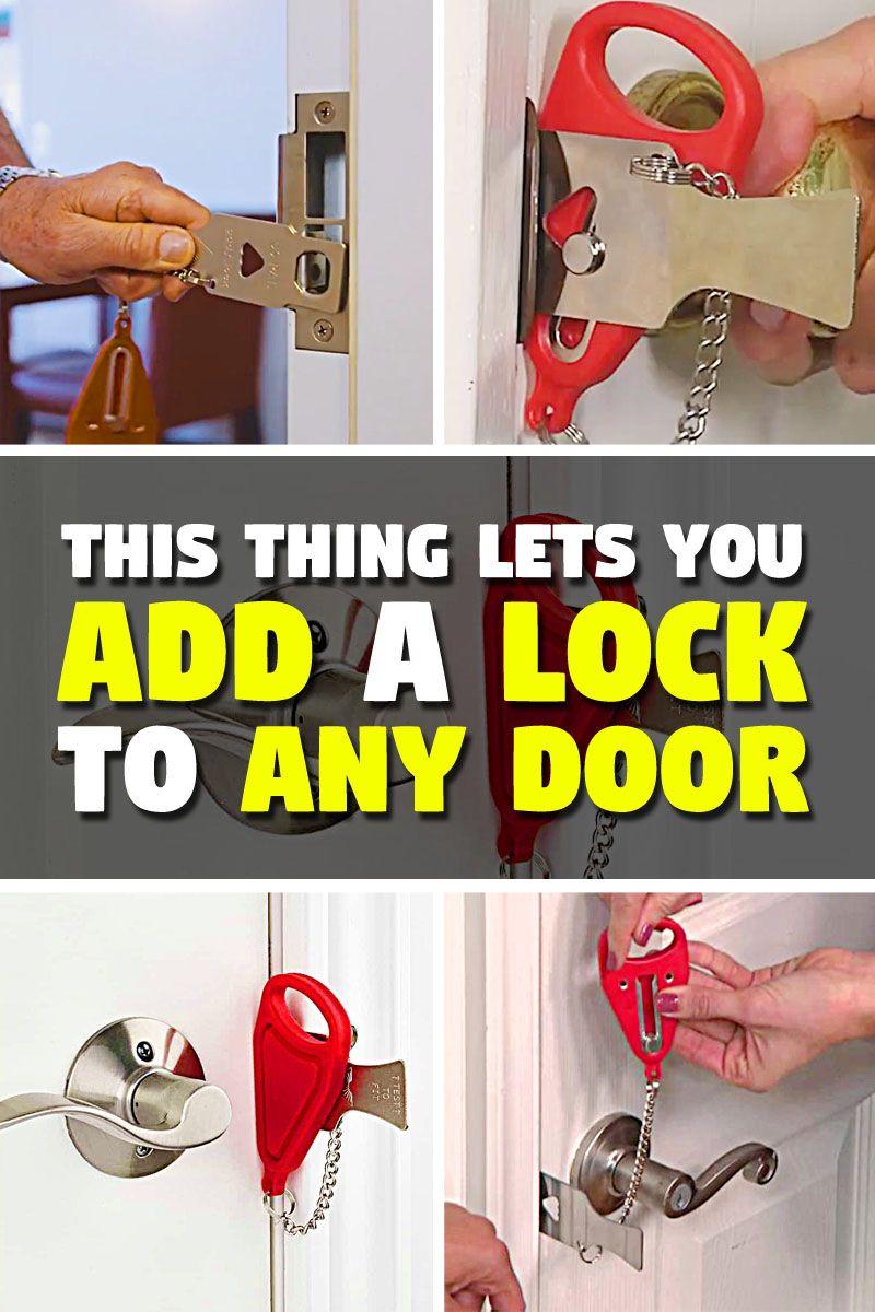 Best Portable Lock For Any Door Addalock Thesuperboo Hotel Door Locks Cool Things To Buy Doors