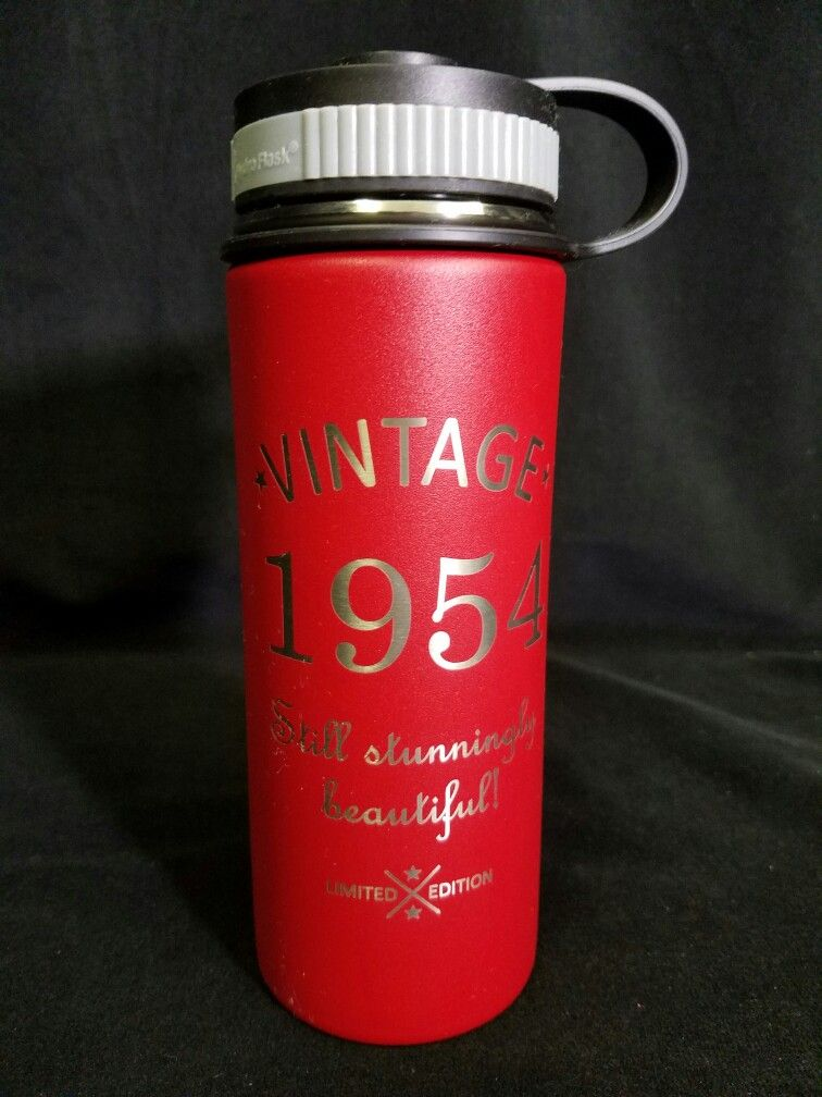 ed875fb247c Hydro Flask laser engraved for customers wife's birthday. Vintage ...