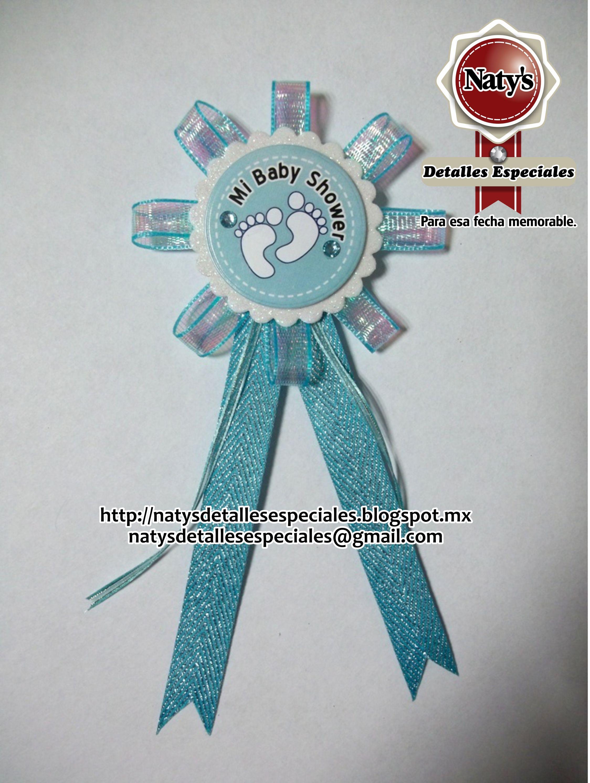 Baby Shower Distintivos ~ Distintivo personalizado para baby shower natys