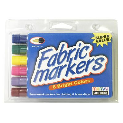 Fabric Marker Brush 6 Piece Set – Bright, large - these are available in different colors. These are brights. There should also be a pastel set.