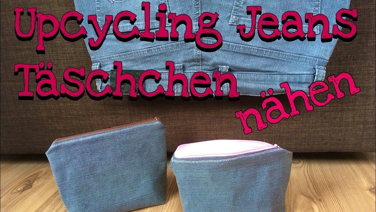 Upcycling Jeans Täschchen nähen ohne Schnittmuster für Anfänger ...