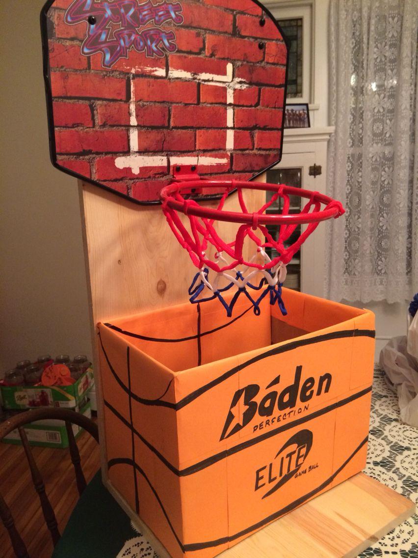 graduation card box for a basketball player graduation card box pinterest graduation. Black Bedroom Furniture Sets. Home Design Ideas