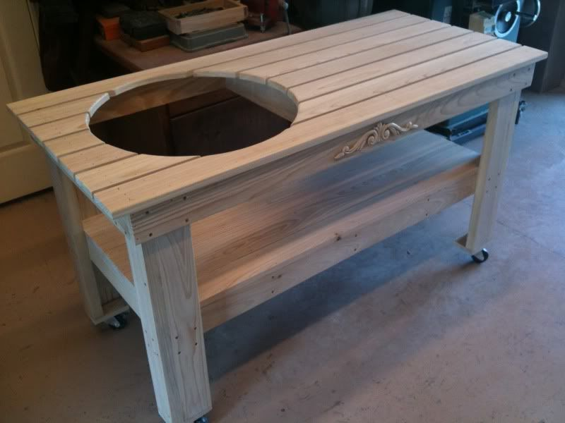 build a table for my grill big green egg table. Black Bedroom Furniture Sets. Home Design Ideas