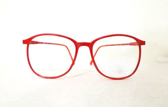 27cb5f3f8f6 Big Red Round Eyeglass Frame Brilliant Vermilion Huge Mod Vintage Eyeglasses  or Sunglasses   Never Used Panto P3 NOS 80s Bug Eye Bubble