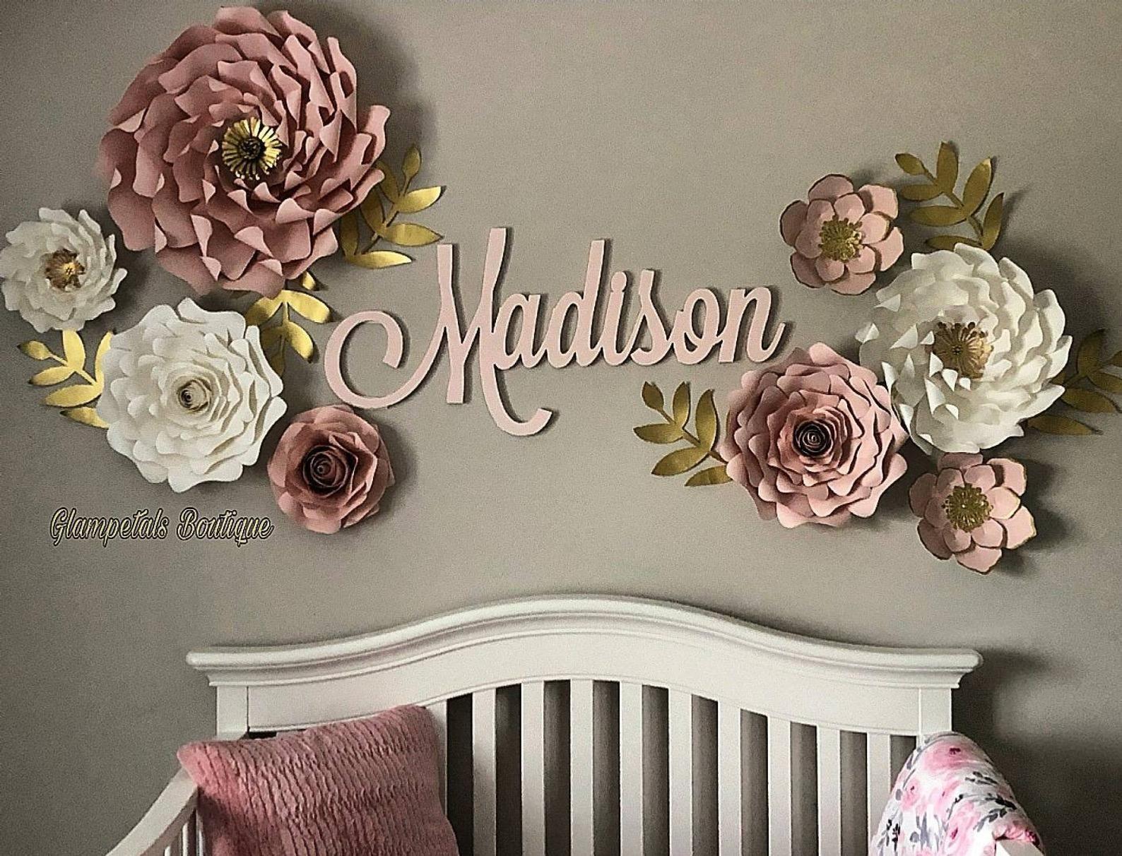 Swirling Love Paper flowers/Paper flower wall/nursery decor/Party backop #giantpaperflowers