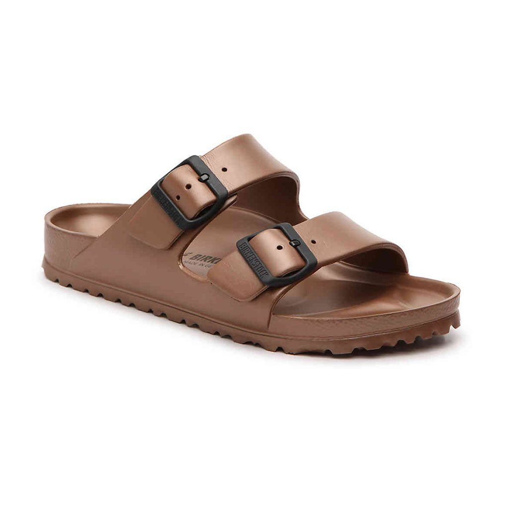 654021ca75e Women s Arizona Essentials Eva Sandal in Copper by Birkenstock. Find this  Pin and more on Birkenstock by Country Club Prep.