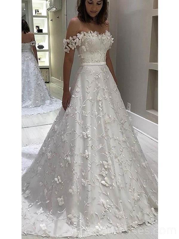 Off Shoulder A Line Lace Long Wedding Dresses Online Cheap Bridal Dresses Wd531 Cheap Bridal Dresses Online Wedding Dress Wedding Dresses