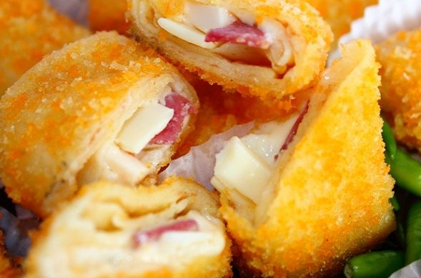 Risoles Smoked Beef Cheese Smoked Beef And Cheese Wrap Fritters Resep Makanan Ringan Sehat Cemilan