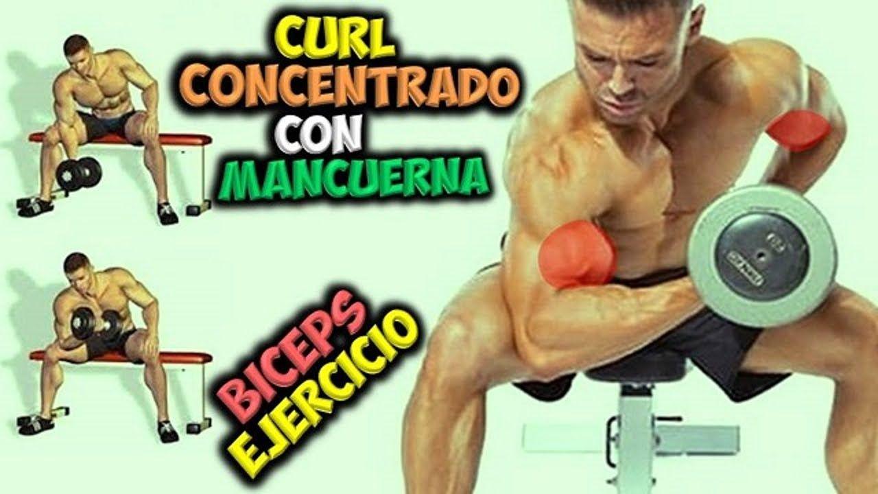 Ejercicio Para Biceps Curl Concentrado Con Mancuerna Brazos Fuerte Ejercicios De Biceps Biceps Mancuernas Como Ganar Masa Muscular