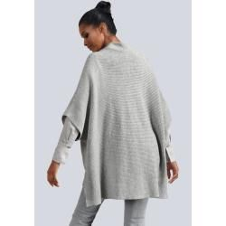 Photo of Alba Moda, Strickjacke in modischer Cape-Silhouette, grau Alba Moda