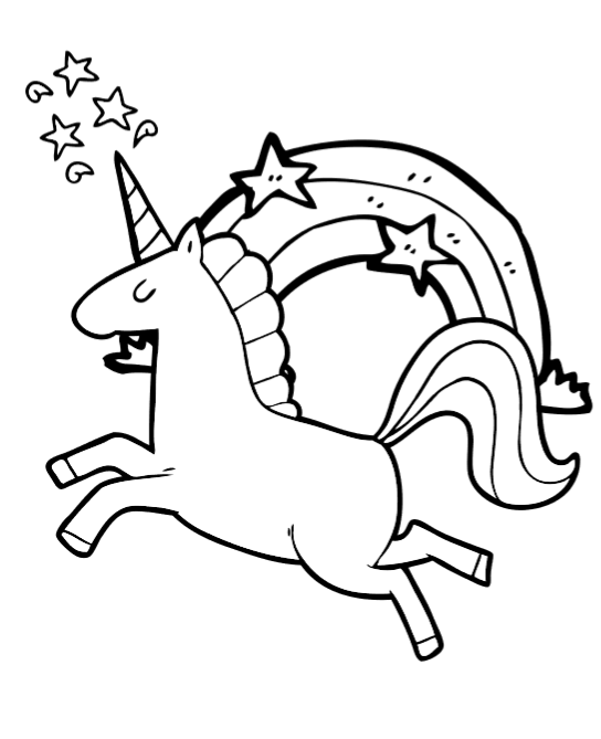 Adorable Unicorn Coloring Pages For Girls